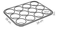 Tescoma Backform 12 Muffins