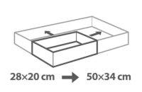 Tescoma verstellbarer rechteckiger Backrahmen