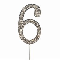 Cake Topper Diamond Number 6