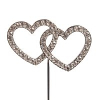 Cake Topper Diamond Double Heart