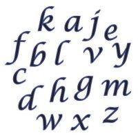 FMM Alphabet Tappits Script Lower Case