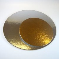 FunCakes Cake Cards Silver/Gold Round 26cm Pkg/3