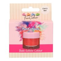 FunCakes Edible FunColours Dust - Cherry Red