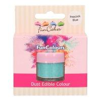 FunCakes Edible FunColours Dust - Peacock Blue