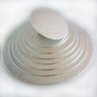 FunCakes Cake Drum Round Ø 10 cm Silver